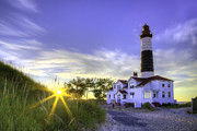 Ludington State Park Posters - Big Sable Lighthouse Sunset Poster by Twenty Two North Photography