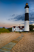 Sea Oats Prints - Big Sable Point Lighthouse Print by Sebastian Musial