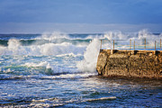Bathing Photo Prints - Big  Sea at Bondi Beach Australia Print by Colin and Linda McKie