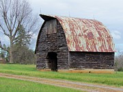 Old Country Roads Posters - Big Shed Poster by Cynthia Guinn