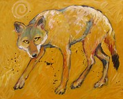 Coyote Paintings - Big Sky Coyote by Carol Suzanne Niebuhr