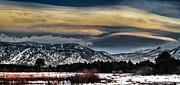 Winter Storm Framed Prints - Big Sky Framed Print by Mitch Shindelbower