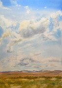 Wyoming Paintings - Big Sky Over The Wind River Mountains by Todd Derr