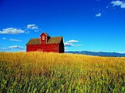 Glenn Prints - Big Sky - Red Barn Print by Glenn Barclay