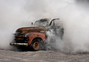 Chevrolet 3100 Prints - Big Smoking Truck Print by Wilma  Birdwell
