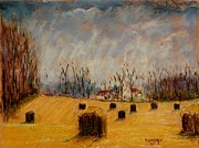 Bales Pastels - Big Square Bales by Tim  Swagerle