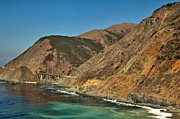 Famous Bridge Metal Prints - Big Sur And The Bridge Metal Print by Adam Jewell