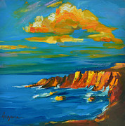 Navy Paintings - Big Sur at the West Coast of California by Patricia Awapara