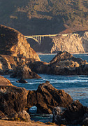 Bixby Bridge Metal Prints - Big Sur Coastal Serenity Metal Print by Mike Reid