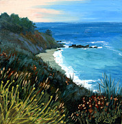 Big Sur Beach Originals - Big Sur Coastline by Alice Leggett