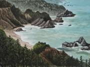 California Coast Paintings - Big Sur by Darice Machel McGuire