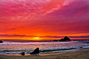 Big Sur Beach Originals - Big Sur sunset Pfeiffer Beach by Jeff Black