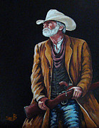 Susan Bergstrom Art - Big Swede The Gunslinger by Susan Bergstrom
