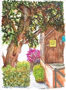 Laguna Beach Paintings - Big-three-at-the-Bead-Shop-in-Laguna-Beach-CA by Carlos G Groppa
