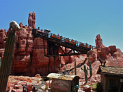 Walt Disney World Photographs Framed Prints - Big Thunder Mountain Walt Disney World Framed Print by Thomas Woolworth