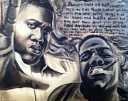 Superstar Drawings Posters - B.I.G Tribute Poster by Larry Silver