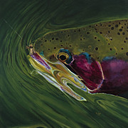 Trout Posters - Big Trout II Poster by Les Herman