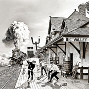 Youth Hockey Art - Big Valley Train Station by Elizabeth Urlacher
