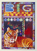 Tiger Sculpture Posters - Big Poster by Virginia Stuart