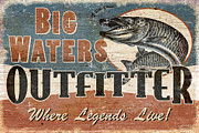 Muskie Framed Prints - Big Waters Outfitters Framed Print by JQ Licensing
