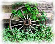 Green Vines Prints - Big Wheel Print by Mel Steinhauer