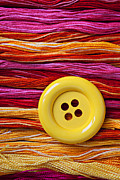 Threads Prints - Big yellow button  Print by Garry Gay