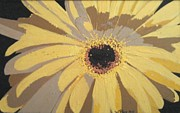 Featured Glass Art - Big Yellow Gerber by Wendy Blye