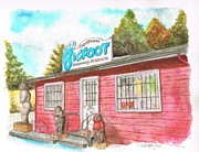Watercolors Painting Originals - Bigfoot Discovery Museum in Felton - California by Carlos G Groppa
