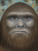 Sci-fi Pastels Prints - Bigfoot Print by Rebekah Sisk