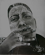 Portraitist Prints - Biggie Blunt Print by Riane Cook