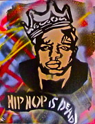 Stencil Art Paintings - Biggie Hip Hop is Dead by Tony B Conscious