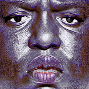 Blues Eyes Prints - Biggie Smalls Notorious BIG and Lyrics Print by Tony Rubino
