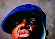 Biggie Framed Prints - Biggie Smalls Framed Print by Shirl Theis