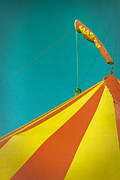 Circus Tent Framed Prints - Biggish Top Framed Print by Odd Jeppesen