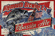 Bass Ale Framed Prints - Bigmouth Brewing Framed Print by JQ Licensing