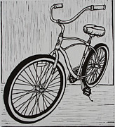 Austin Drawings - Bike 6 by William Cauthern