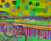Color Pencil Paintings - Bike at Avalon by Carolina Coto
