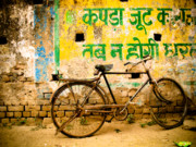 India Photos - Bike by Derek Selander