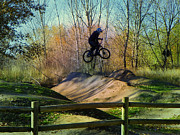 Idaho Scenery Prints - Bike Jump Print by Photography Moments - Sandi