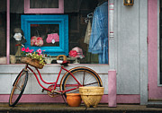 Pink Framed Prints - Bike - Lulus Bike Framed Print by Mike Savad