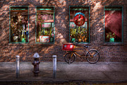 Brick Wall Prints - Bike - NY - Chelsea - The delivery bike Print by Mike Savad