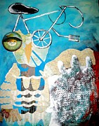 Abstract Map Originals - Bike Owl by Amy Sorrell