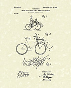 Bicycle Drawings Posters - Bike Seat 1903 Patent Art Poster by Prior Art Design