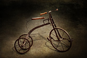 Earth Tones Metal Prints - Bike - The Tricycle  Metal Print by Mike Savad