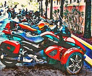 Fanatasy Prints - Bike Week Daytona Print by Irma BACKELANT GALLERIES