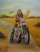 Nancy Stewart - Biker on Lonely Country...