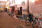 Fort Collins Art - Bikes in Alley by Emily Clingman