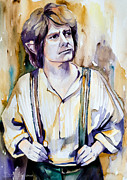 Celebrities Mixed Media - Bilbo Baggins by Slaveika Aladjova