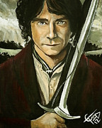 Lord Of The Rings Framed Prints - Bilbo Baggins Framed Print by Tom Carlton