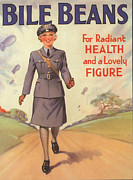 World War 2 Drawings Prints - Bile Beans 1940s Uk Uniforms  Ww2 Print by The Advertising Archives